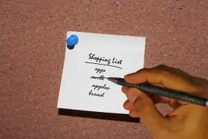 making your own food list