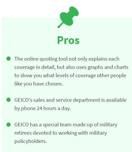 pros of geico